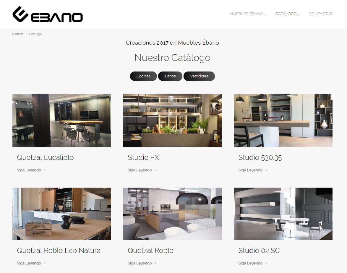 Catálogo de muebles online