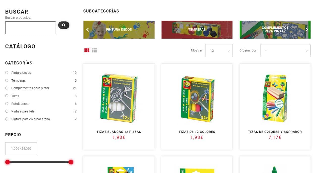 SES Creative España - Listas de productos