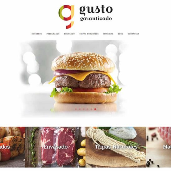 Gusto Garantizado. Sitio Web de InPut Creativity en Madrid