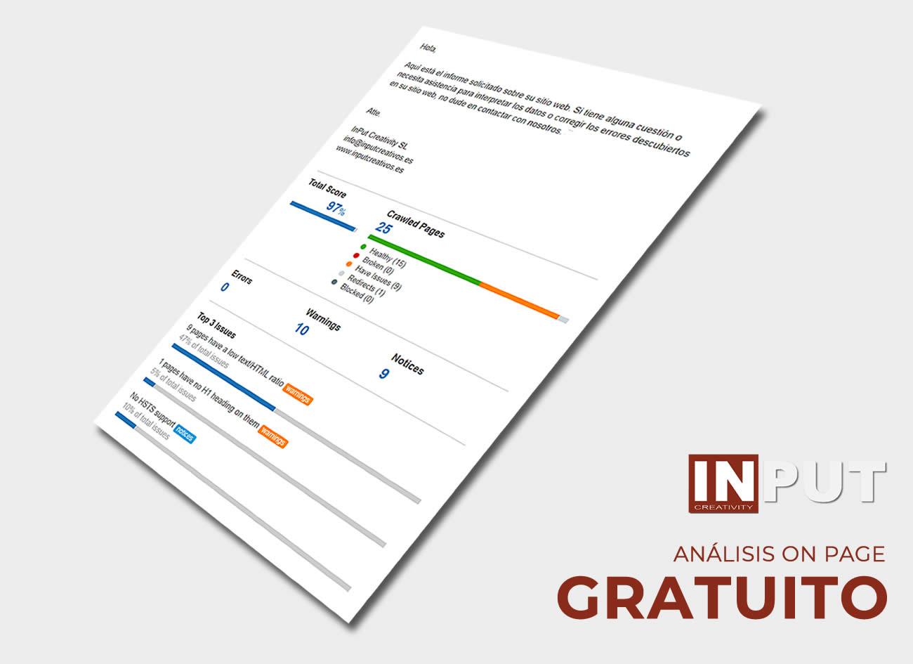 Auditoría Web Gratis en InPut Creativity